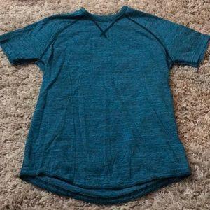 Men's American Eagle Teal Space Dye T-shirt XS